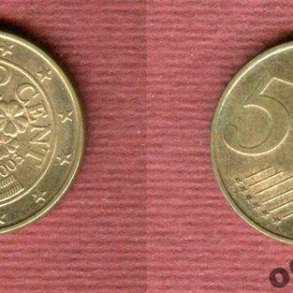Австрия 5 евроцентов 2003