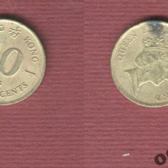 Гонконг 10 центов 1986