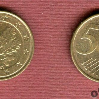 Германия 5 евроцентов 2002