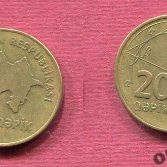 Азербайджан 20 гяпиков  2006 №4