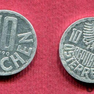 Австрия 10 грошенов 1990