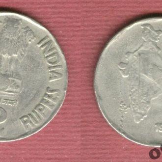 Индия 2 рупии 1995