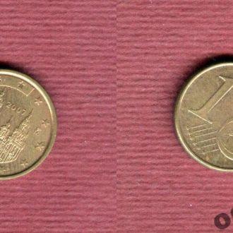 Испания 1 евроцент 2007