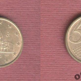 Италия 5 евроцентов 2002