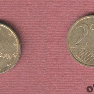 Словакия 2 евроцента 2010