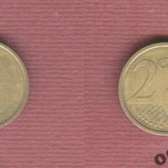 Италия 2 евроцента 2002