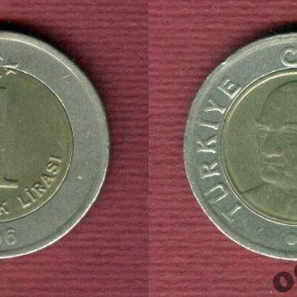 Турция 1 лира 2006