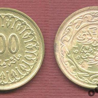 Тунис 100 мильемов 1993