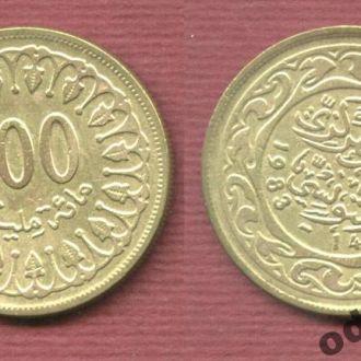 Тунис 100 мильемов 1983