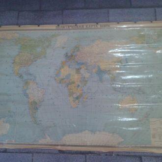 карта мира 1971г