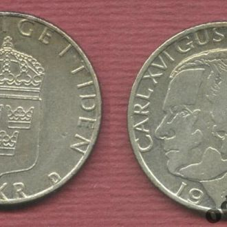 Швеция 1 крона 1989