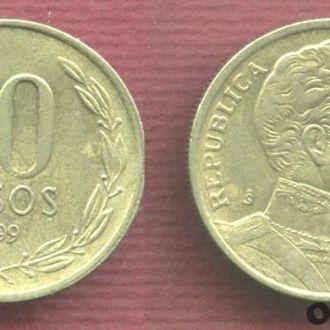 Чили 10 песо 1999