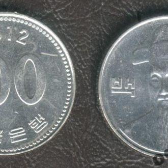 Южная Корея. 100 вон. 2012