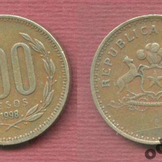 Чили 100 песо 1998  №1