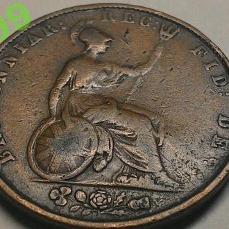 Англия 1/2 пенни 1853 г.