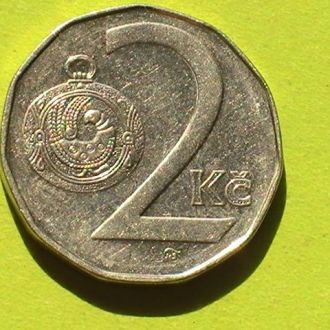 2 Кроны 1996 г Чехия 2 Крони 1996 р Чехія