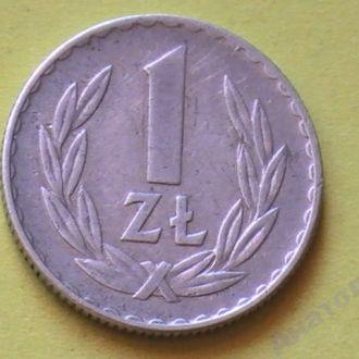 1 Злотый 1974 г Польша 1 Злотий 1974 р Польща