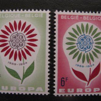БЕЛЬГИЯ 1964 ЦВЕТЫ ФЛОРА