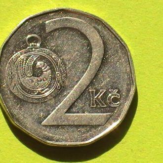 2 Кроны 1997 г Чехия 2 Крони 1997 р Чехія