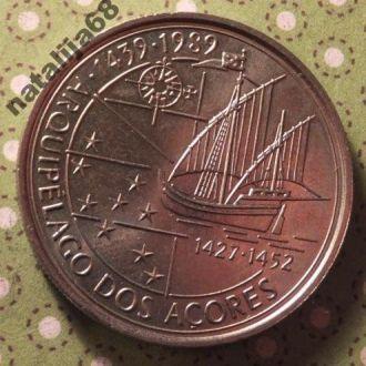 Португалия 1989 год монета 100 эскудо парусник !