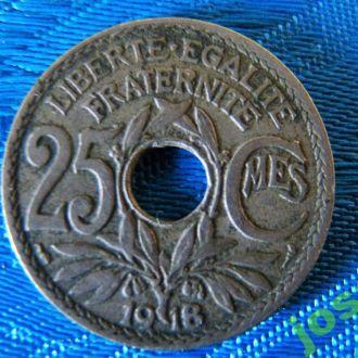 25 сантимов 1918 г