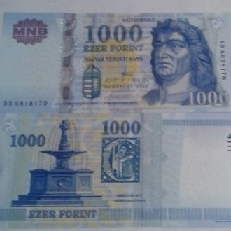 Hungary Венгрия - 1000 Forint 2008 UNC JavirNV