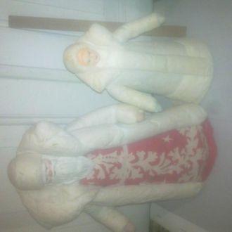 Снегурочка и Дед Мороз.
