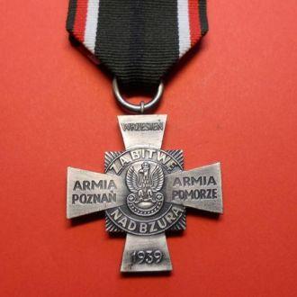 """Польша крест""""ZA BITWE NAD BZURA 1939"""""""