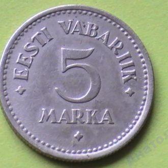 5 Марок 1924 г Эстония 5 Марок 1924 р Естонія