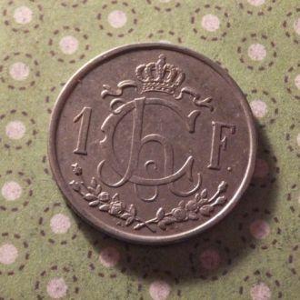 Люксембург 1946 год монета 1 франк !