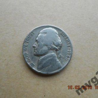 США,5 центов ,1946 год.