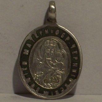 Черниговская икона, св. Сергий, серебро 84, 1890ые