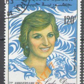 Джибути 1982 Леди Диана