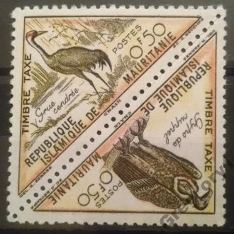 марки Мавритания фауна птицы люкс