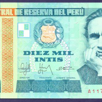 Боны Америка Перу 10000 интисар 1988 г.