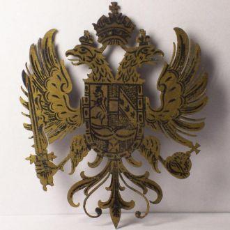 Двуглавый орёл, эмаль, герб империи, Австрия 1880