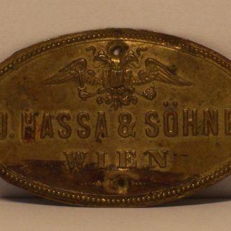 Табличка музыкального инструмента, Австрия, 1880е