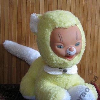 Кукла Кошка Кошечка Sonneberg Gummigesicht 40см