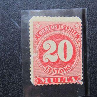 марка Чили 1898 стандарт доплата классика как есть