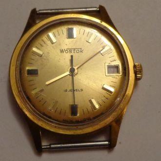 Часы Восток, позолота Au 10, СССР