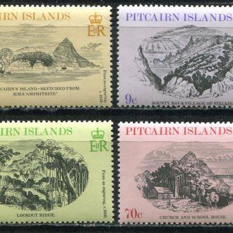 Британский о.Питкерна 1979 Гравюры видов Серия MNH