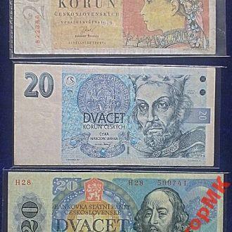 Боны Чехословакии-разные годы