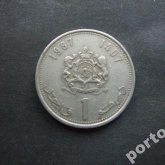 1 франк Марокко 1987