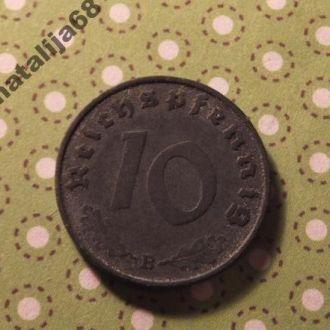 Германия монета 10 пфенингов 1940 год B !