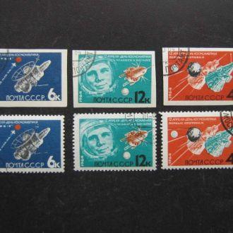 6 марок СССР 1964 космос полная серия