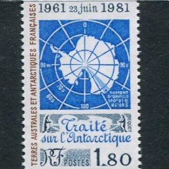 ТААФ Франция 1981 год Одиночка ** Карта Фауна