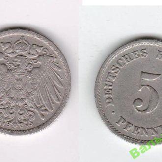 5 пфеннингов 1911 F