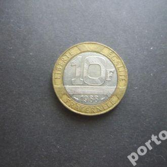 10 франков Франция 1988