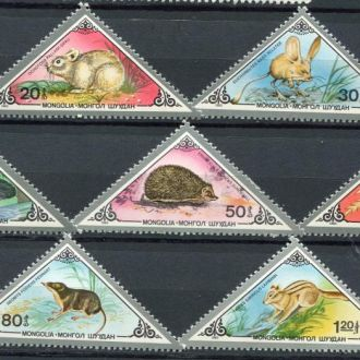 Монголия 1983 Фауна Животные степи Серия MNH