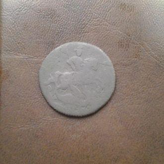 Деньга Елизаветы 1759г. нечищенные.